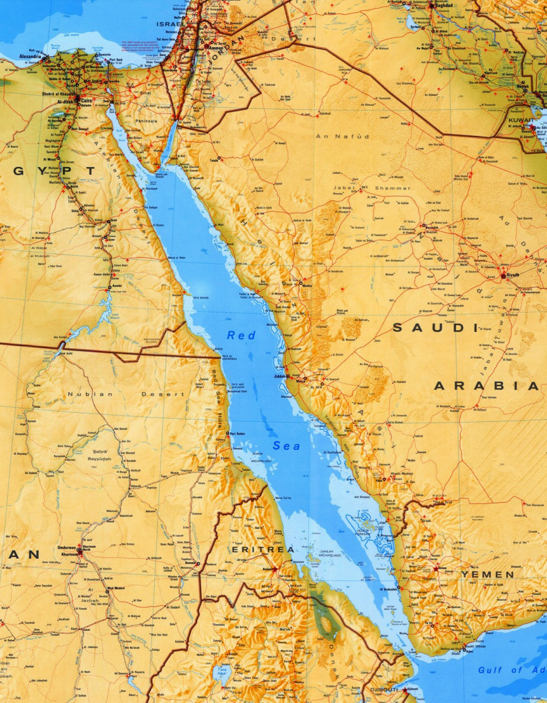 The Red Sea Map - Egypt Tours Portal