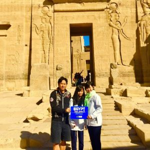 Egypt Tours Portal Customers at Philae Temple