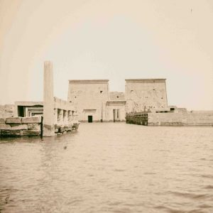 Philae flooded by the Aswan Low Dam - Philae Temple Relocation - Egypt Tours Portal