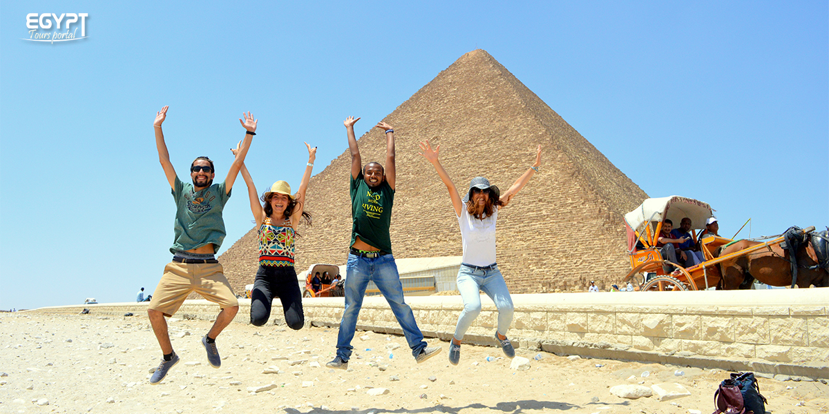 Enjoy A Friends Tour at the Pyramids - How to Plan A Vacation With Friends in Egypt - EGypt Tours Portal