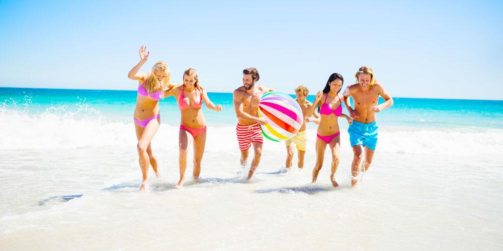 Friends at Beach - Egypt Tours Portal