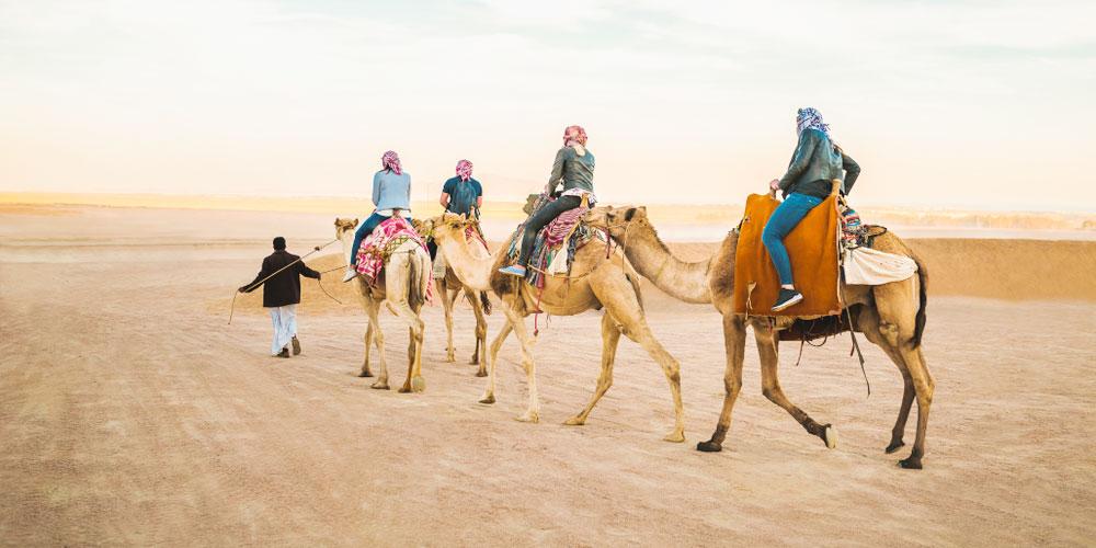 Friends at Sahara Egypt - Egypt Tours Portal