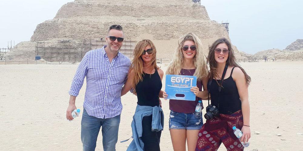 Friends in Saqqara Egypt - Egypt Tours Portal