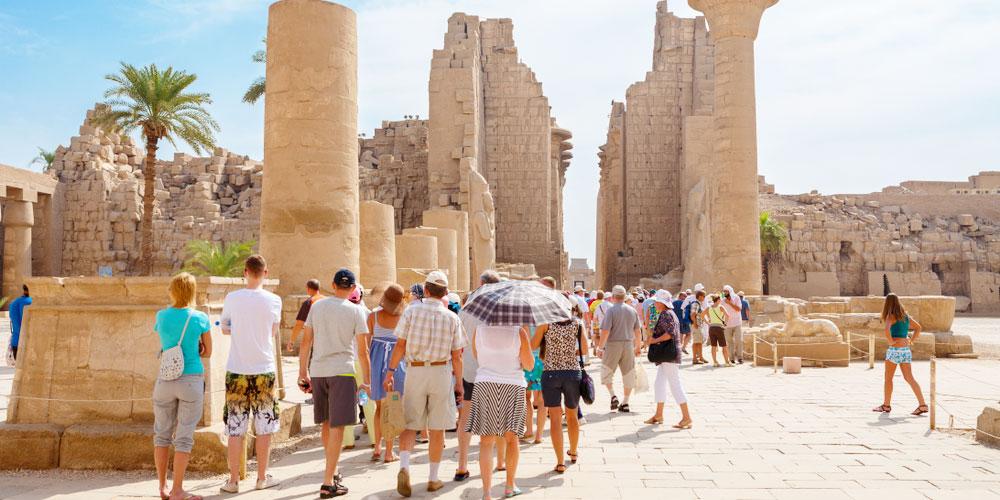 Group at Karnak Temple - Egypt Tours Portal