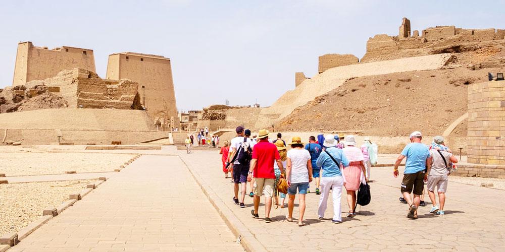 Group at Philae Temple - Egypt Tours Portal